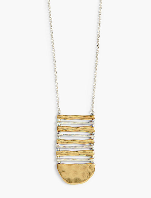 METAL LADDER NECKLACE,