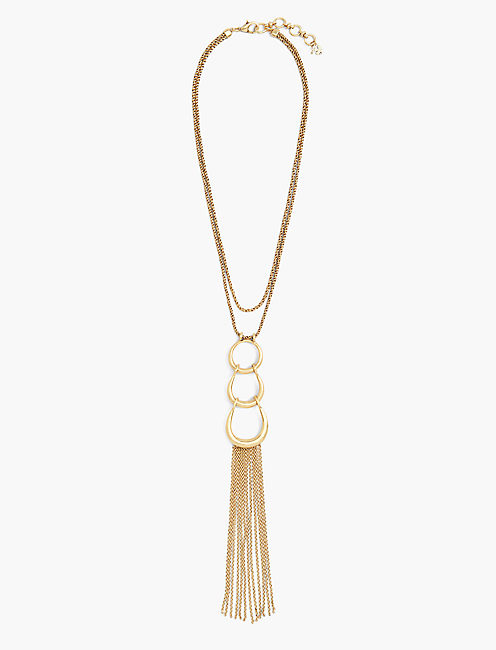 FRINGE PENDANT NECKLACE,