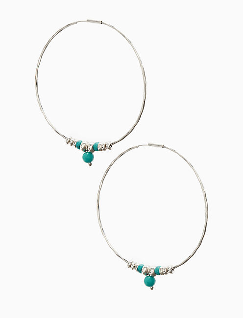 HOOP WITH TURQUOISE,
