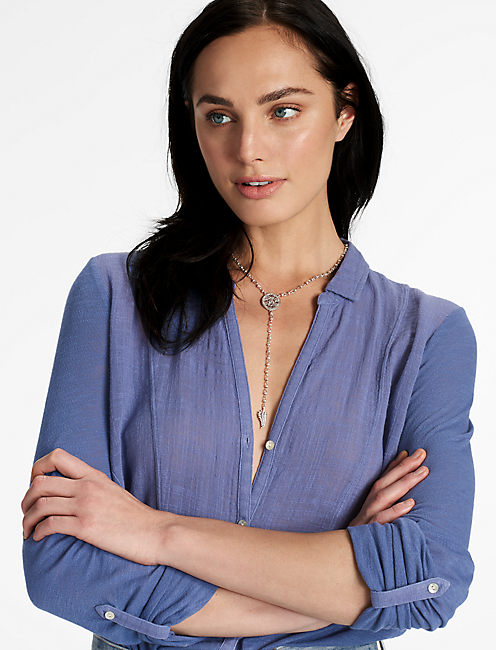 OPENWORK LARIAT NECKLACE,