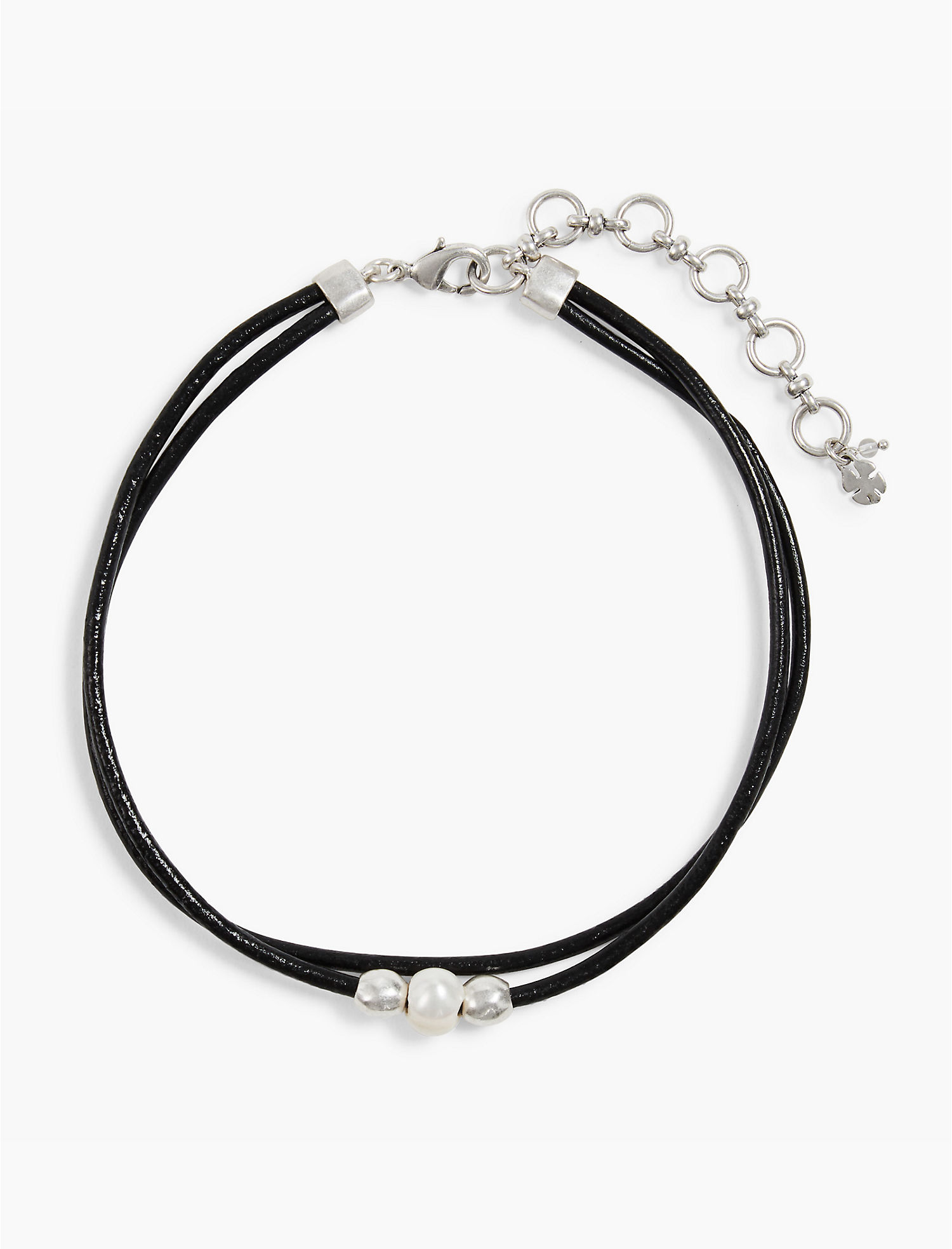 Lucky Pearl Leather Choker