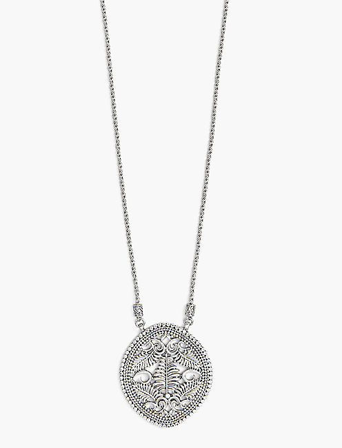 OPENWORK PENDANT NECKLACE,