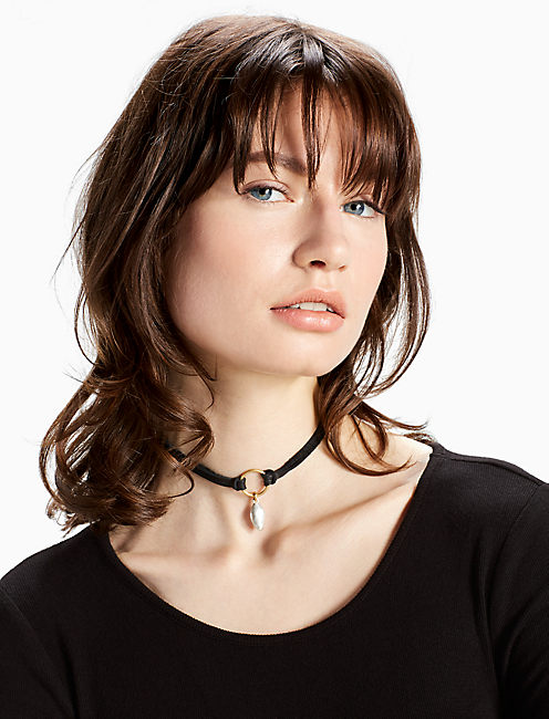 TWO TONE DROP CHOKER, MULTI