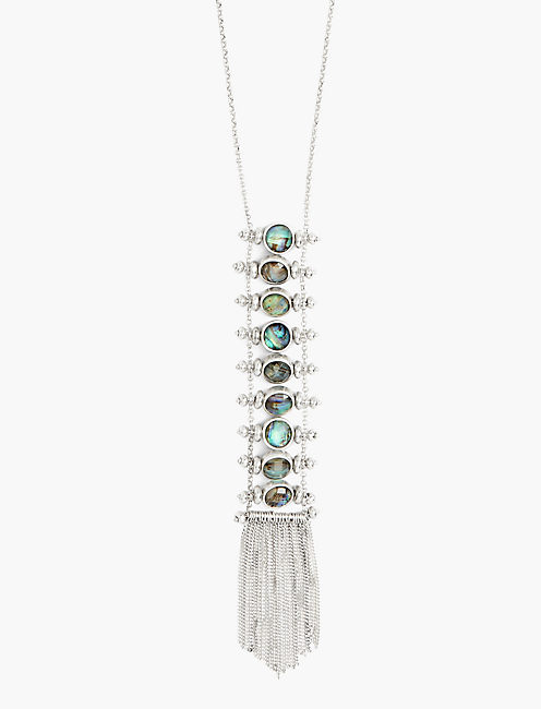 ABALONE LADDER NECKLACE,