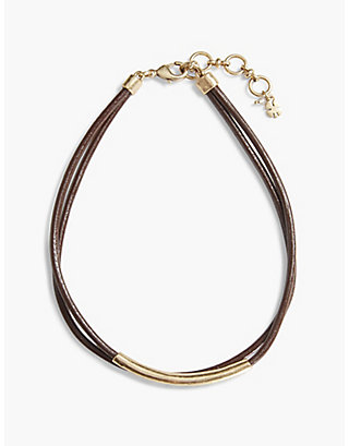 LUCKY BROWN LEATHER CHOKER