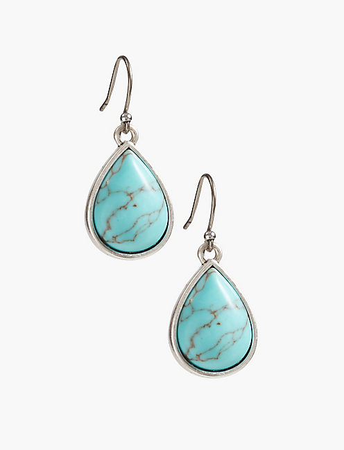 BASIC TURQUOISE DROP EARRING,