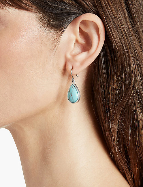 LUCKY BASIC TURQUOISE DROP EARRING