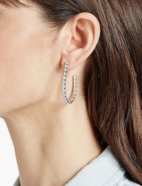 Lucky Basic Turquiose Hoop Earring