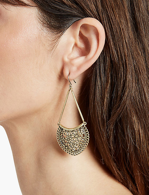 LUCKY LACE OPENWORK LARGE EARRING