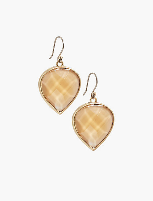 CITRINE TEARDROP EARRING,