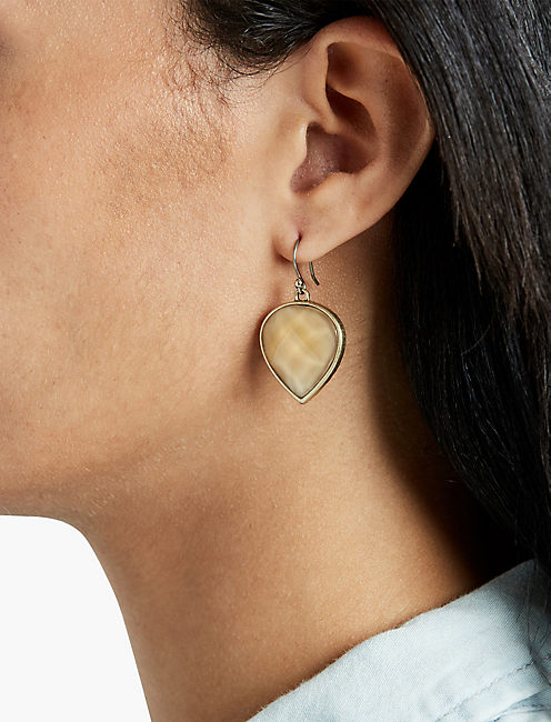 Lucky Citrine Teardrop Earring