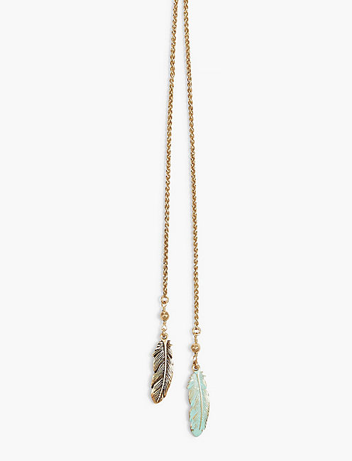 FEATHER LARIAT,