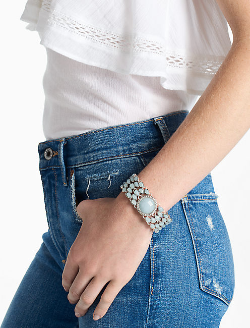 Lucky Seafoam Stone Link Bracelet