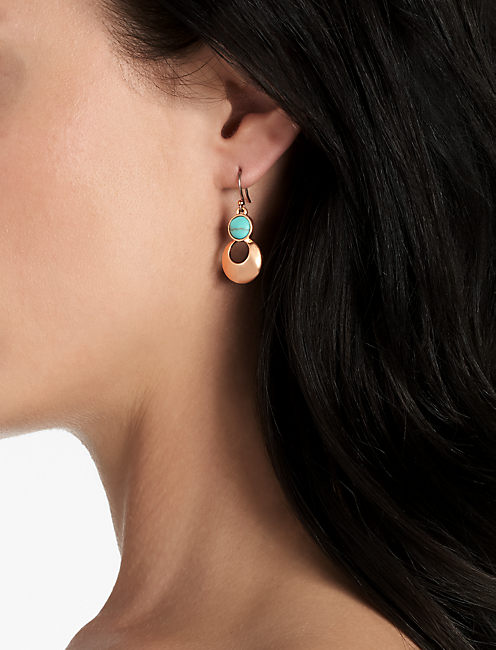 ROSE & TURQUOISE EARRING,