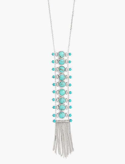 TURQUOISE LADDER NECKLACE,