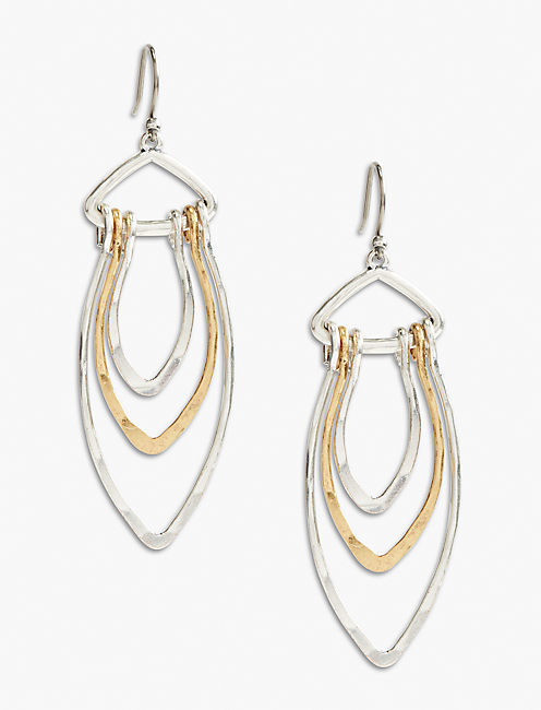 TWO TONE LOOP EARRING,