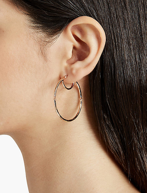Lucky Hinged Hoop Earring