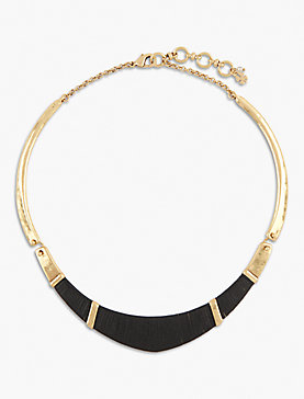 LEATHER WRAPPED CHOKER