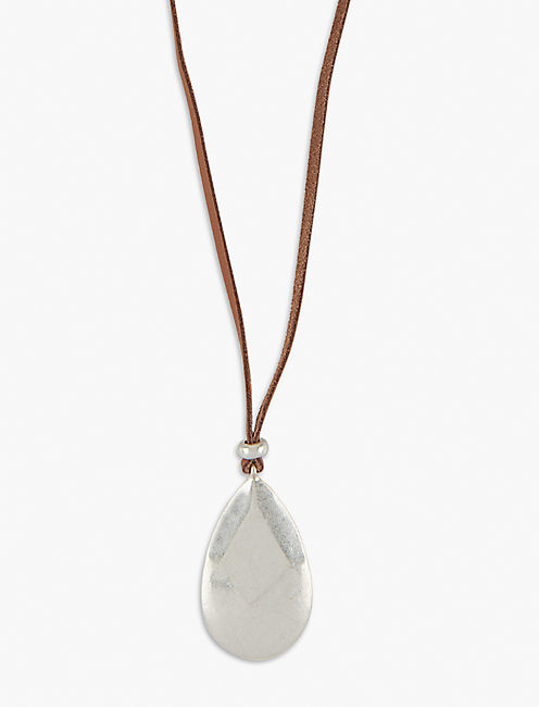 LEATHER PENDANT NECKLACE,