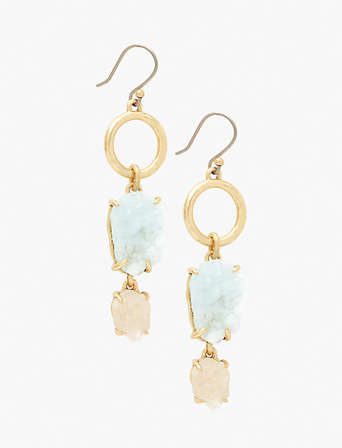 DRUZY DROP EARRING,