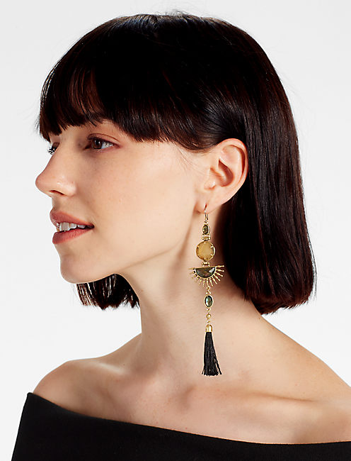 Lucky Statement Fringe Earring