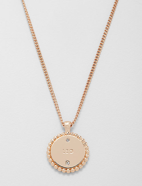 Lucky Small Leo Zodiac Necklace