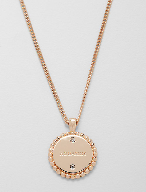 Lucky Small Aquarius Zodiac Necklace