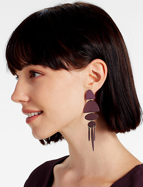 Lucky Painted Wine Earring
