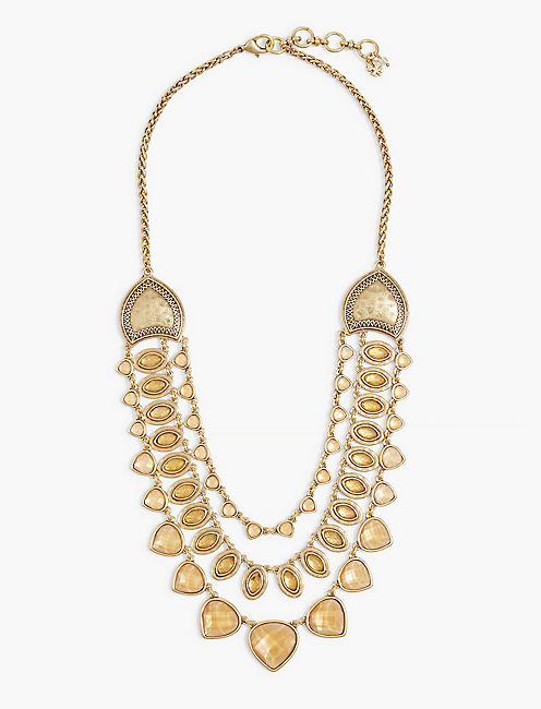 CITRINE STATEMENT NECKLACE,