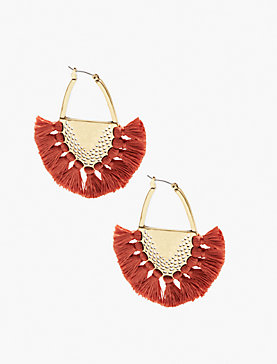 STATEMENT FRINGE EARRING