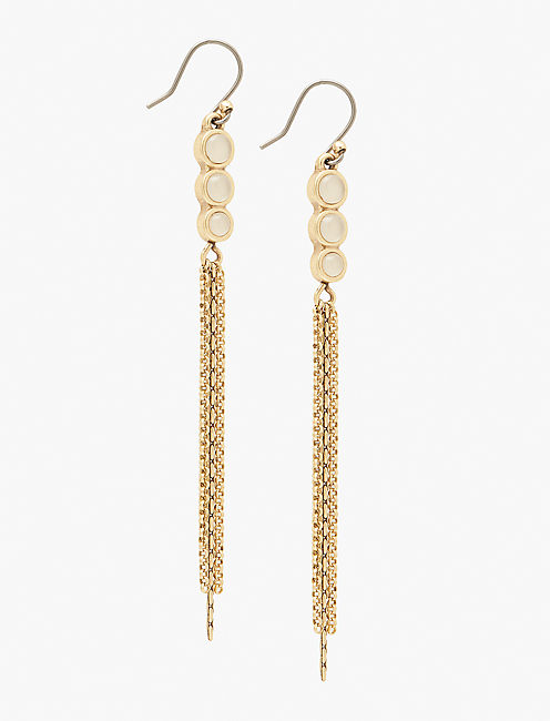 GOLD LINEAR EARRING,