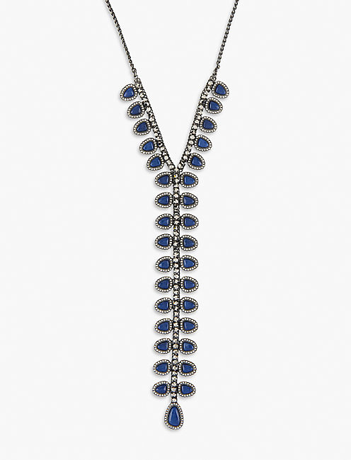 Lucky Pave Tie Necklace