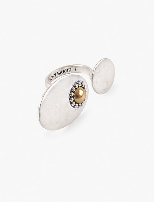 TWO TONE STATEMENT RING,