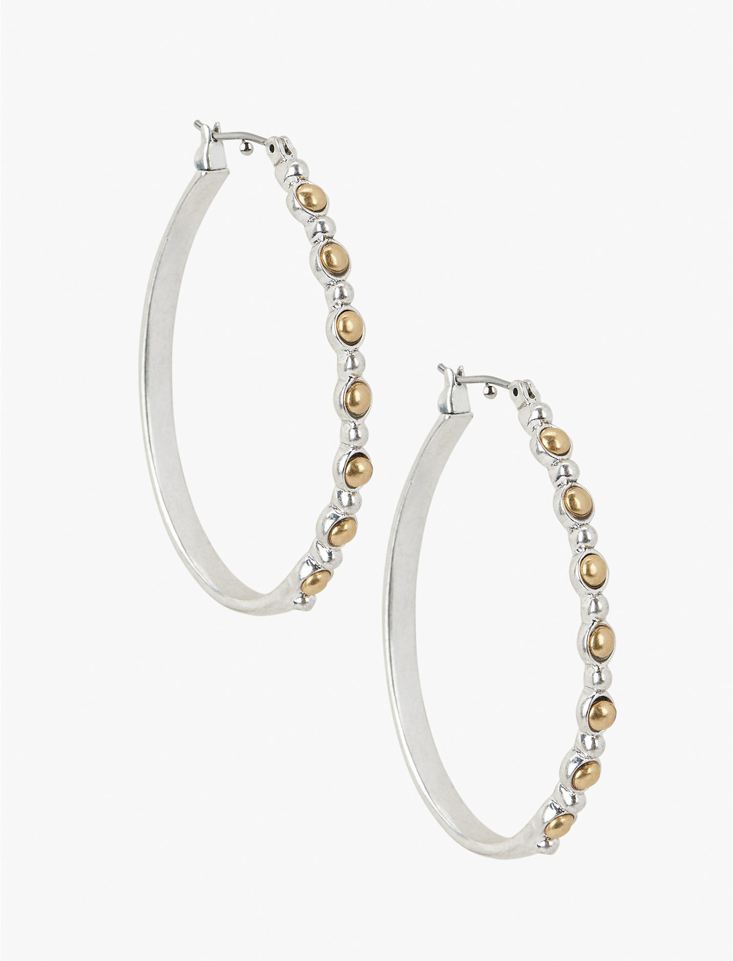 Two Tone Hoop Earring,