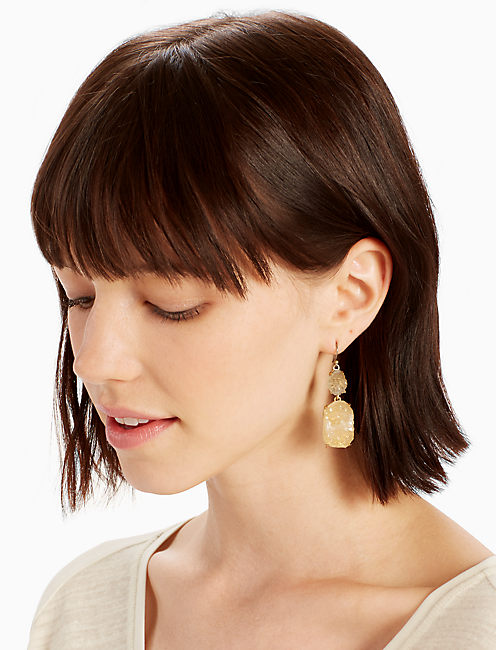Lucky Druzy Statement Earring