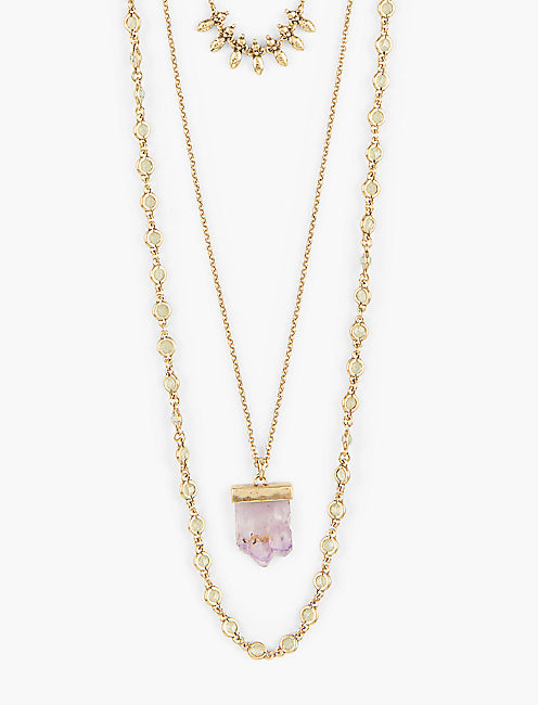 DRUZY LAYER NECKLACE,