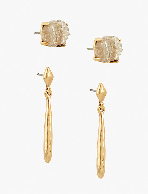 DRUZY EARRING SET, GOLD