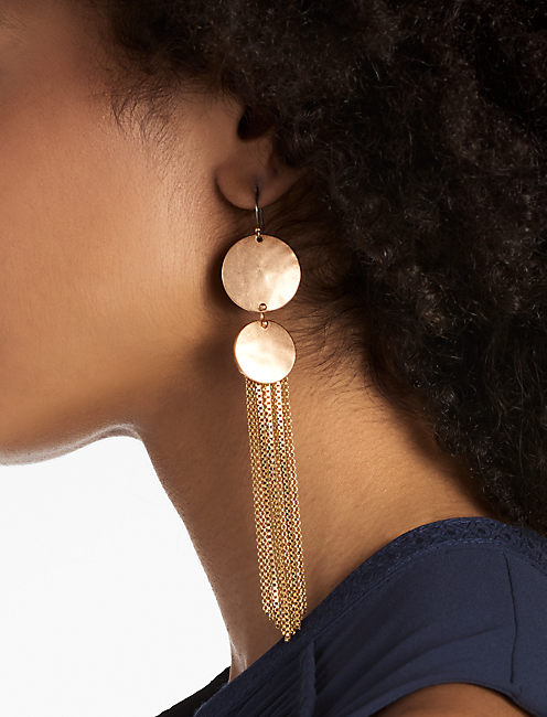 ROSE GOLD DRAMA EARRING,