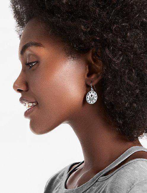 Lucky Moon Drop Earrings