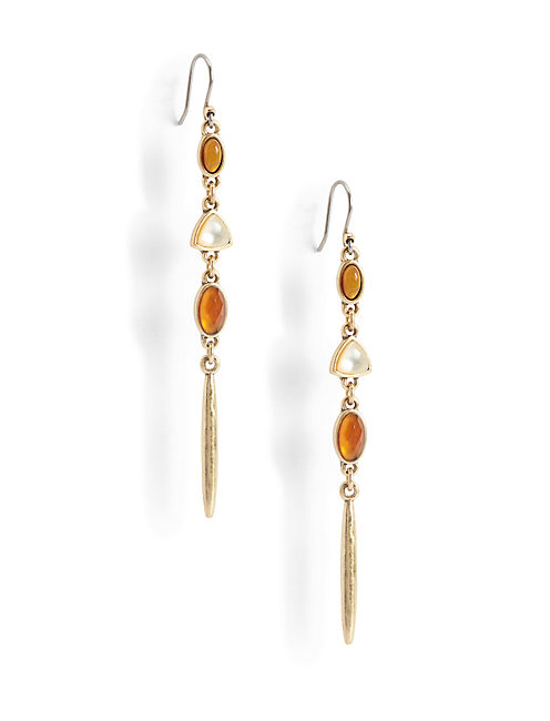 BEADED LINEAR EARRING,
