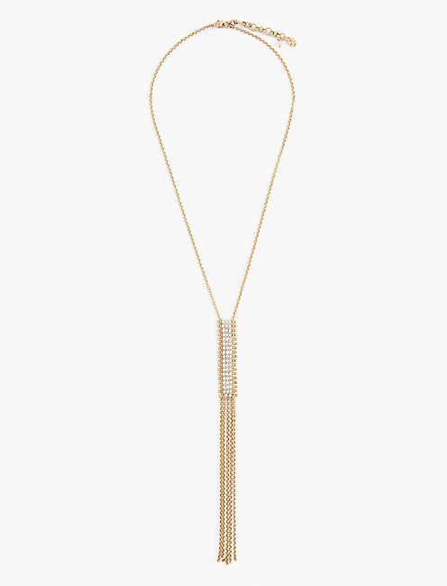 LONG NECK TIE NECKLACE,