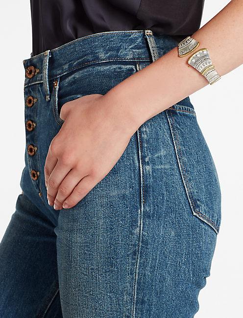 Lucky Pave Hinge Bracelet
