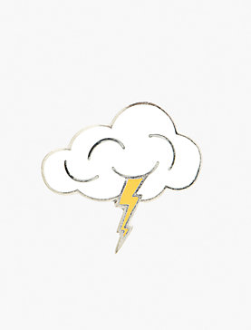 LIGHTNING CLOUD PIN