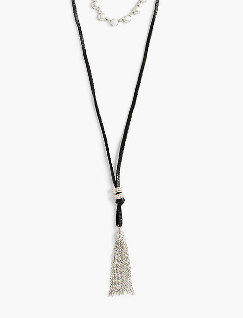 BLACK CHOKER BOLO NECKLACE,