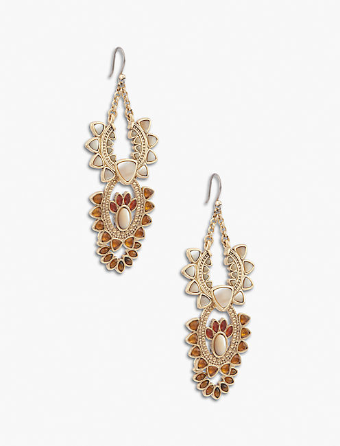 STONE STATEMENT EARRING,