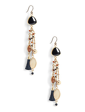 MIXED STATEMENT EARRING