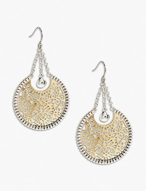 CIRCLE STATEMENT EARRING,