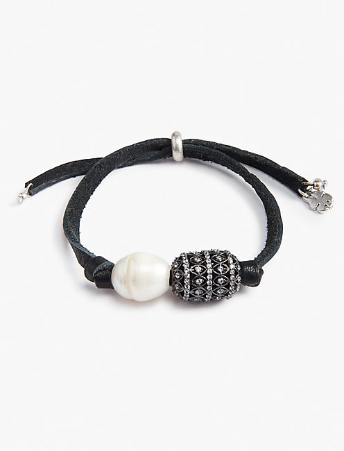 PEARL LEATHER BRACELET,