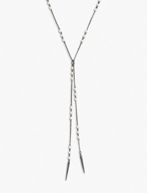 PEARL LARIAT NECKLACE,