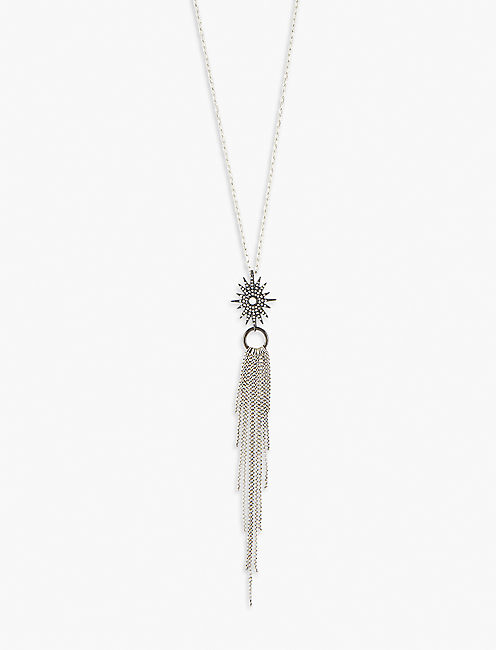 Lucky Stardust Tassel Necklace